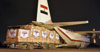 مصر ترسل ثلاث طائرات عسكرية فى ختام جسر المساعدات الإنسانية للأشقاء بالسودان
