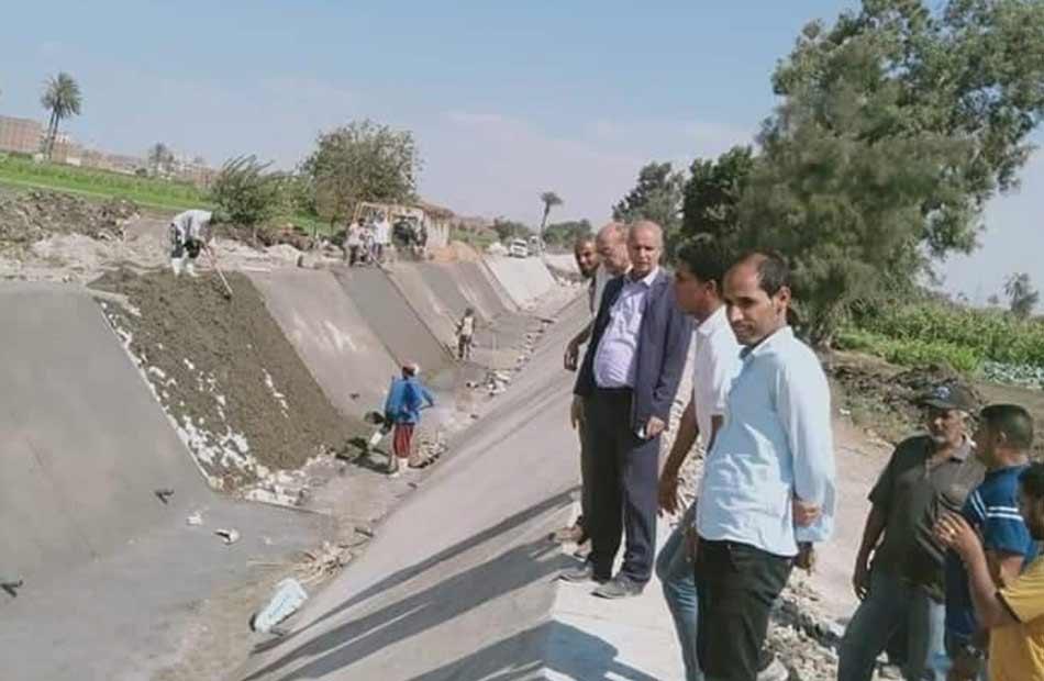 مستشار وزير الري يتفقد تأهيل الترع بمحافظة الجيزة  صور