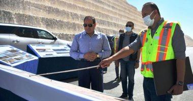 الرئيس السيسي يتفقد طريق وصلة أم القمر الرابط بين القاهرة وكلا من الإسماعيلية والسويس