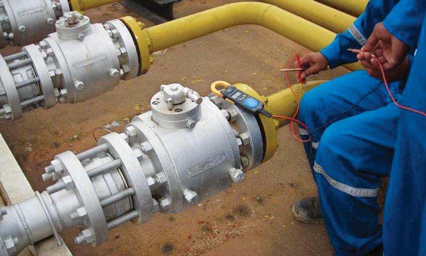 مشروع توصيل الغاز للمنازل