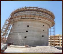 انشاء 2 خزان أرضى بمدينة برج العرب
