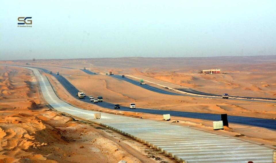 تطوير طريق أسيوط القاهرة الصحراوى الغربى