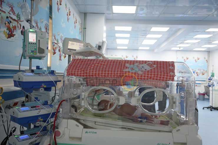 وحدة حديثي الولادة بمستشفى أبو الريش