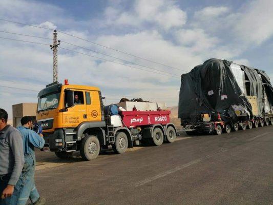 غلايتين قدرة 50 طن لمشروع توسعات شركة اسيوط لتكرير البترول