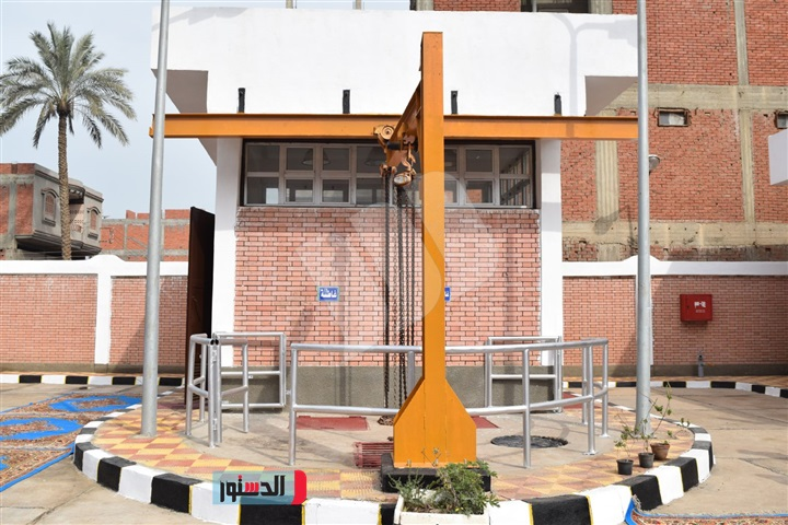 محطة رفع صرف صحى بقرية كوم النور