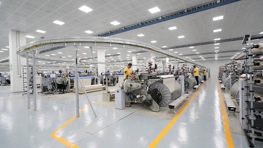 مصنع النسيج المستطيل