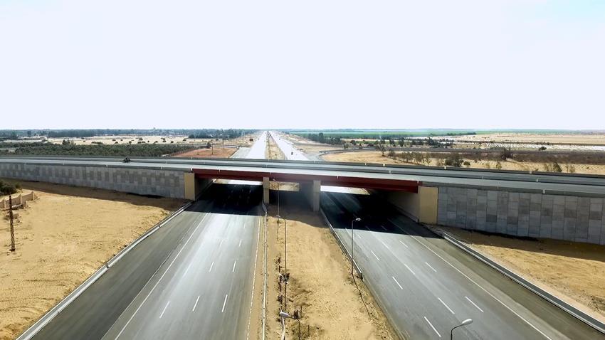 كوبري تقاطع طريق بني سويف - الزعفرانة مع طريق الجلالة