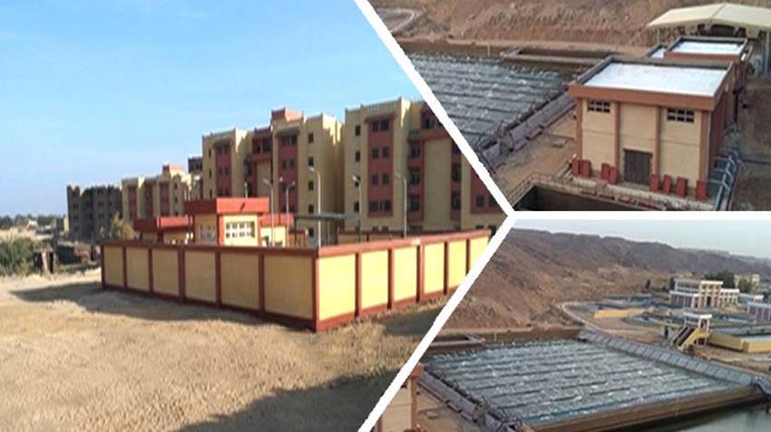 إنشاء ١٩ مشروع صرف صحي بمحافظة أسوان