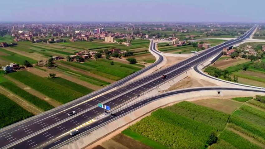 تقاطع طريق الباجور -  شبين مع الطريق الدائري الإقليمي