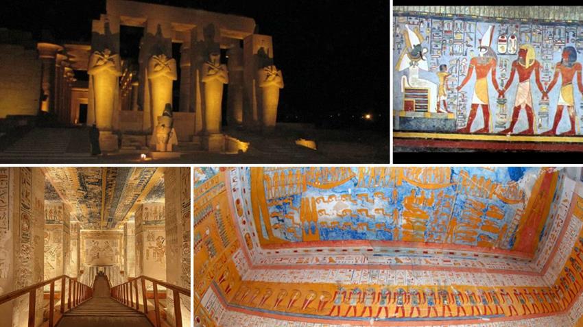 تطوير إنارة معبد الرامسيوم وثلاثة مقابر بوادي الملوك بالأقصر