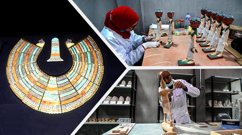 مصنع المستنسخات الأثرية بمدينة العبور