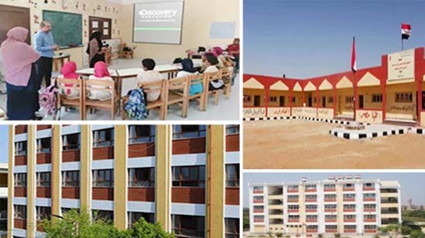 إنشاء وتطوير 103 مدرسة بمختلف المراحل التعليمية بمحافظة أسوان