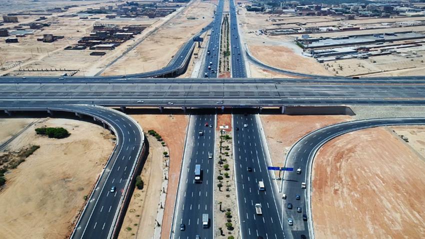 تطوير وتوسعة طريق القاهرة - الإسماعيلية الصحراوي