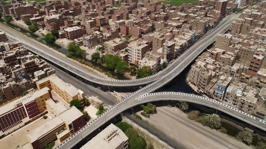 إنشاء كوبري طهطا العلوي بمحافظة سوهاج