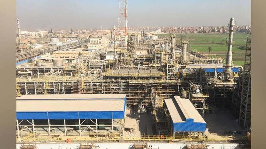 إنشاء مجمع التكسير الهيدروجيني بشركة المصرية للتكرير