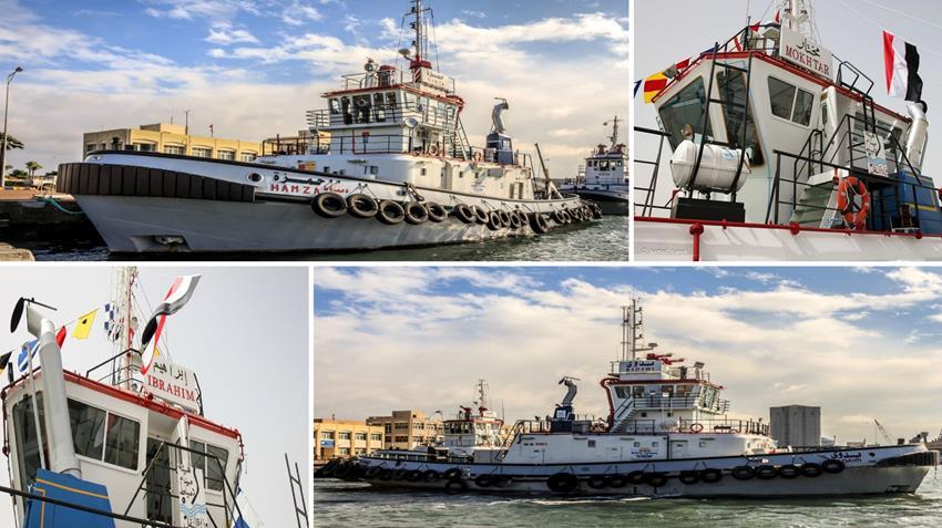 بناء وتوريد 4 قاطرات بحرية بميناء دمياط