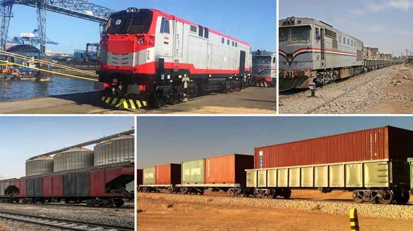 تشغيل 140 عربة قطار لنقل البضائع