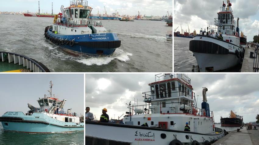 بناء وتوريد 6 قاطرات بميناء الإسكندرية
