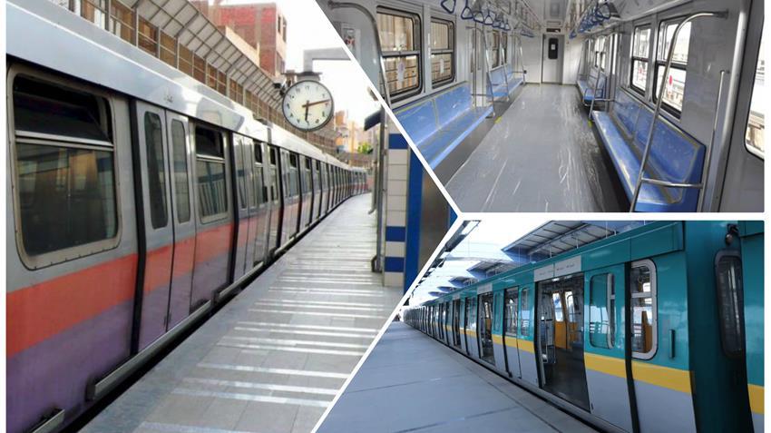 تطوير 7 قطارات بالخط الثاني لمترو الأنفاق