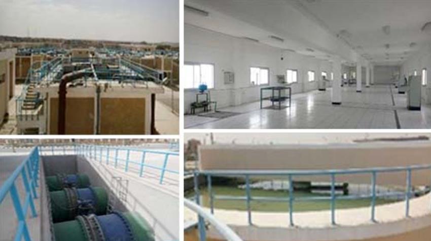 توسعات محطة مياه الشرب بمدينة العبور