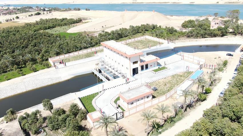 محطتا رفع مياه علي مصرف المحسمة غرب قناة السويس