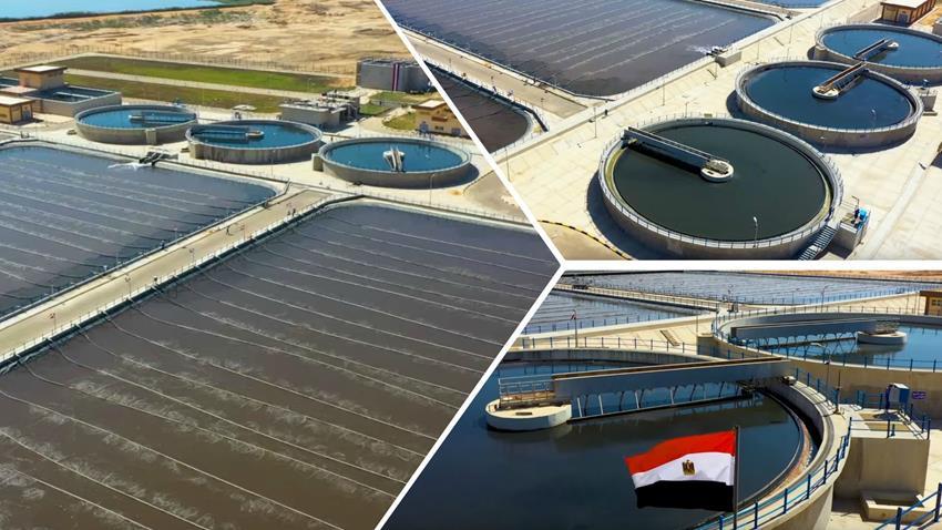 المرحلة الأولي لمحطة المعالجة الثلاثية للصرف الصحي برج العرب الجديدة