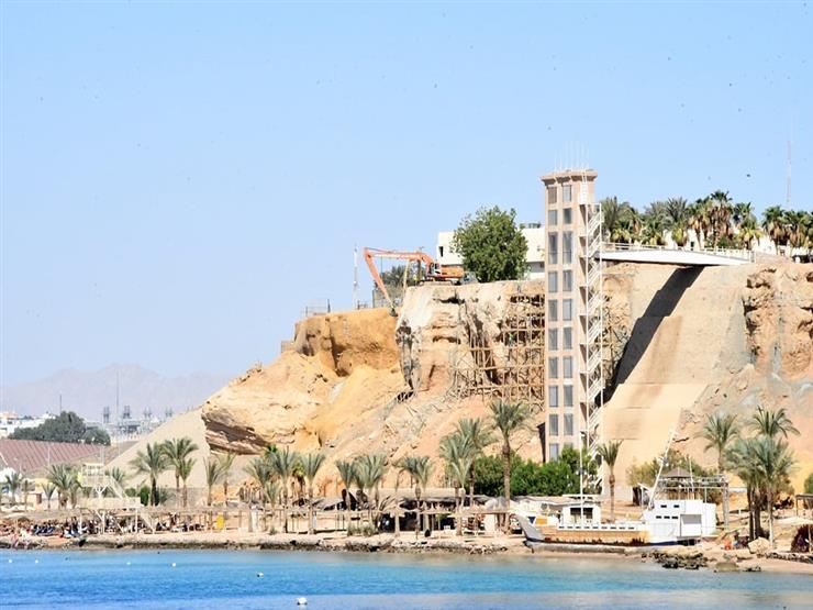 ممشى السياحى بمنطقة هضبة أم السيد بشرم الشيخ
