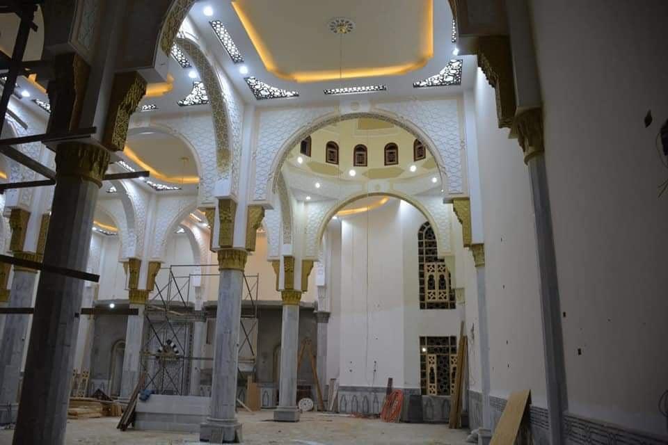 أعمال الإنشاءات بالمجمع الإسلامى بمدينة موط بالداخلة