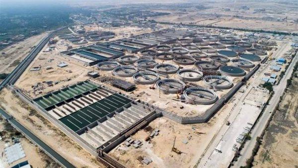 محطة معالجة مياه الصرف الصحي بمنطقة أبورواش