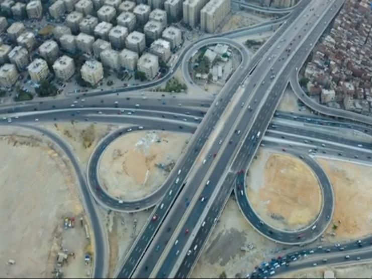 مشروع كوبري تقاطع طريق الأوتوستراد الجديد مع الدائري