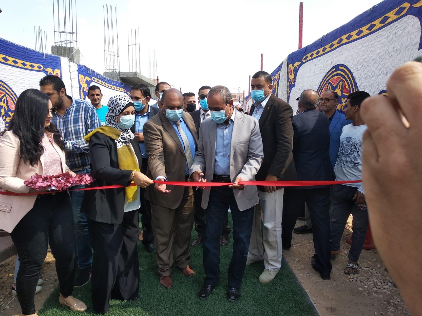 إفتتاح مشروع محطة رفع صرف صحي الشيخ غريب