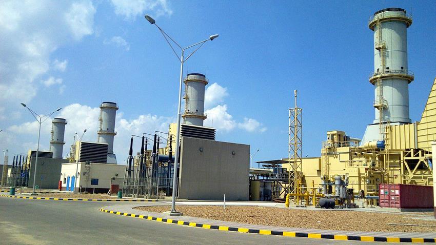 محطة توليد كهرباء دمياط الغازية