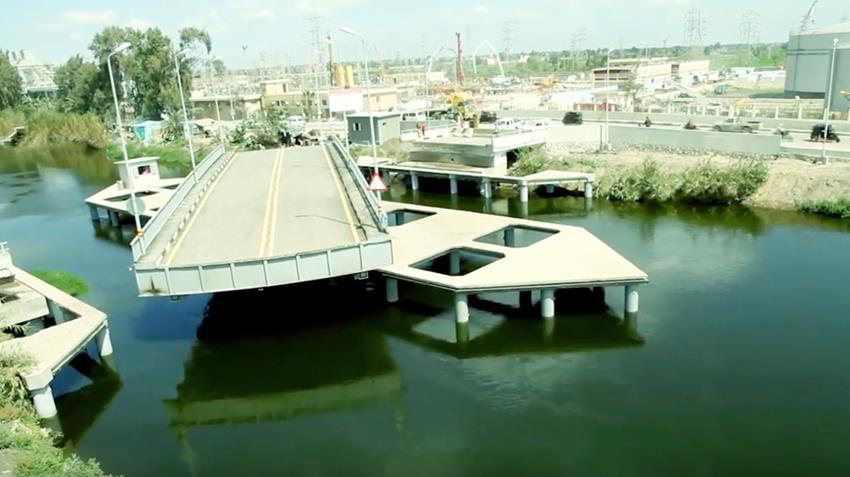 إنشاء كوبري المحمودية المتحرك بمحافظة البحيرة