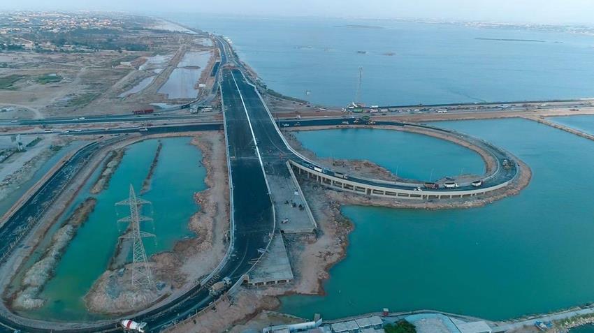 إنشاء كوبري برج العرب بمحافظة الإسكندرية