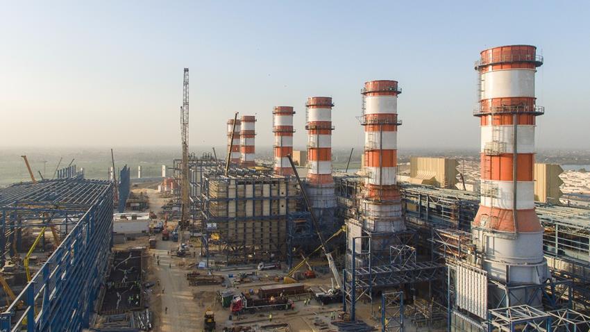 إنشاء محطة كهرباء بني سويف بنظام الدورة المركبة