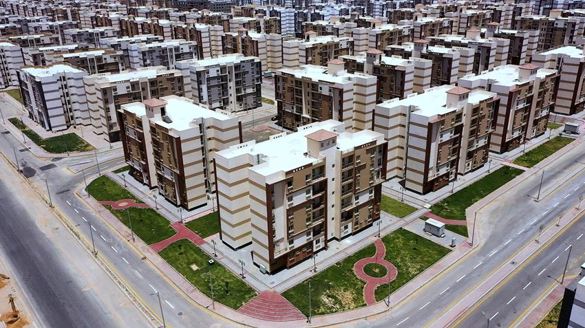 المرحلة الأولي من سكن العاملين المنتقلين للعاصمة الإدارية بمدينة بدر