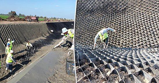 مشروعات تأهيل وتبطين الترع ومخرات السيول بمحافظه المنيا