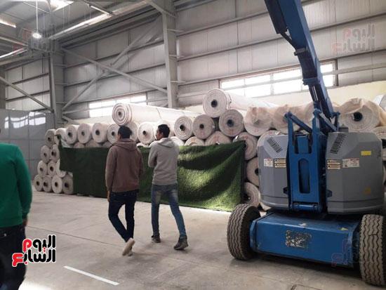 اول مصنع للنجيل الصناعى بمصر
