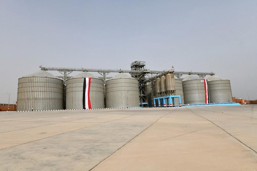 المركز الإقليمي لتكنولوجيا تخزين وتداول الحبوب بصومعة برقاش بمنشأة القناطر