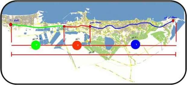 مشروع مترو أبو قير العلوي