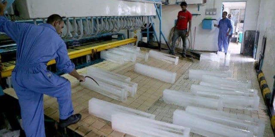 مصنع الواح الثلج المتنقل 