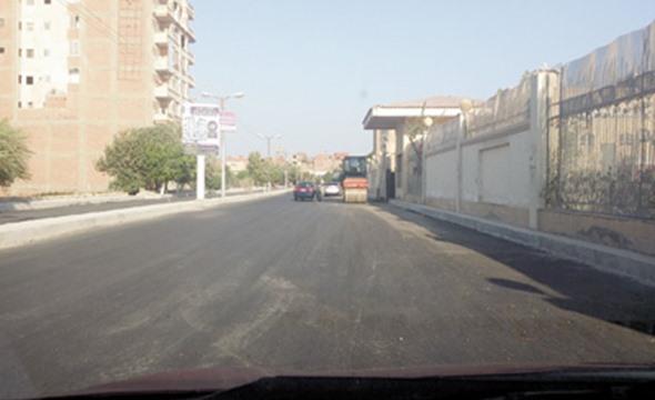 رصف طريق الفيوم - ابشواى - جبل سعد