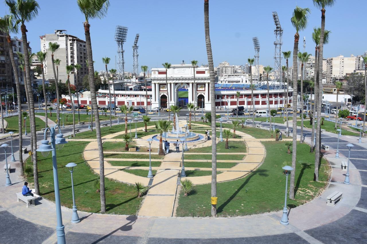 تطوير حديقة استاد الإسكندرية
