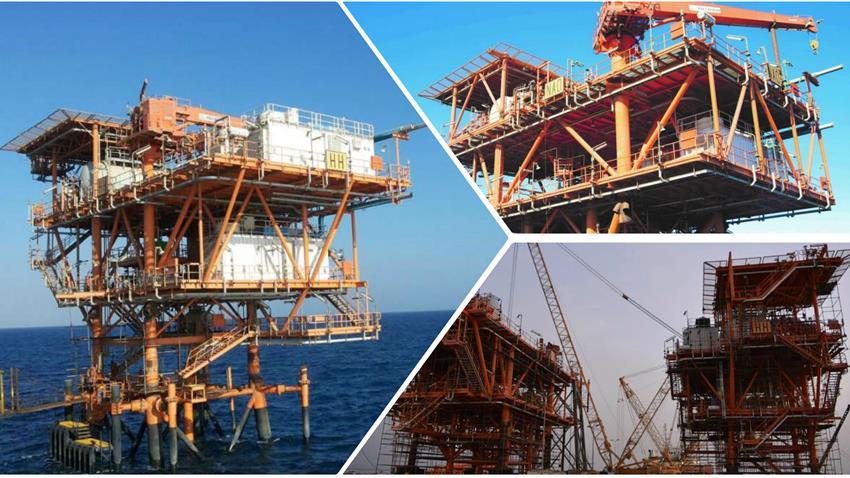 إنشاء ٢ رصيف بحري بحقلي بترول (HH & NAO) بخليج السويس
